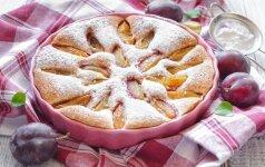 Trapus slyvų pyragas + universalios tešlos receptas