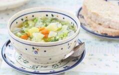 Pati skaniausia šviežių kopūstų sriuba