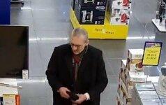 Kauno policija ieško vyro, kuris padėtų išsiaiškinti vagystę