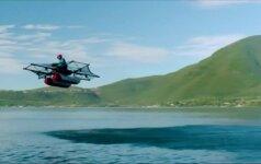 """JAV pristatytas asmeninis skraidantis aparatas """"Kitty Hawk Flyer"""""""