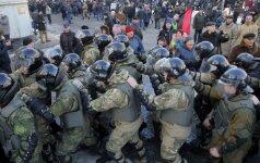 Kijeve sulaikyti keli protestuotojai, įskaitant jų lyderį