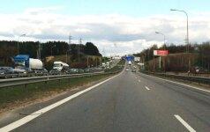 Kelyje Vilnius-Kaunas keisis greičio apribojimai
