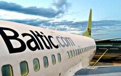 """Atšaukta dalis """"airBaltic"""" skrydžių"""