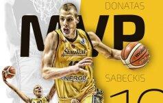 Vienos geriausių LKL istorijoje rungtynių atnešė D. Sabeckiui savaitės MVP titulą