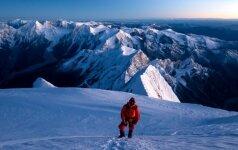 """Kopimas 8163 m aukščio Manaslu (""""Dvasios"""") kalną, esantį Nepale"""