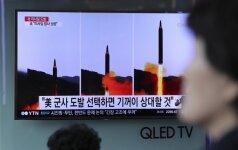 JT ragina Šiaurės Korėją nutraukti raketų bandymus