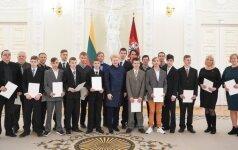 Dalia Grybauskaitė pagerbė specialiosios olimpiados sportininkus / Foto: lrp.lt