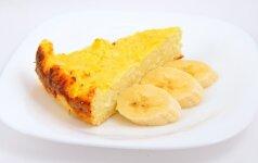 Bananų ir varškės pyragas