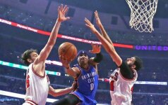 "NBA čempionate - ""Bulls"" ir ""Trail Blazers"" klubų pergalės"