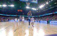 """""""Eurobasket 2017"""" aštuntos dienos TOP-5: K. Porzingio dėjimas tarp dviejų turkų ir P. Gasolio rekordas"""