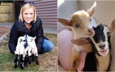Įtemptą darbą mieste moteris iškeitė į ožkų priežiūrą: mėgaujasi kiekviena akimirka