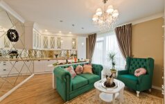 Klasikinio stiliaus 46 kv.m. butas Vilniuje su neįprastu dekoro sprendimu