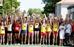 Karščio banga nesulaikė bėgikų Marijampolėje