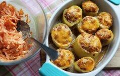 Savaitgalio gardumėlis: malta mėsa įdarytos bulvės