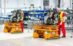 """Streikavę """"Volkswagen"""" gamyklos Slovakijoje darbuotojai išsireikalavo didesnių algų"""