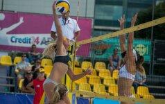 """Europos paplūdimio tinklinio čempionato """"Satellite"""" serijos moterų turnyras Vilniuje"""