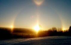 Vilnietis danguje pastebėjo retą reiškinį
