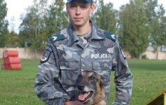 Tarnybinis šuo Bondas operatyviai susekė moters išžaginimu įtariamą vyrą