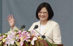 Taivanas pasipiktinęs dėl seksistinio Kinijos komentaro apie šalies prezidentę