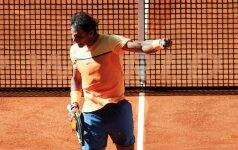 R. Nadalis dėl traumos nežaidė atvirųjų Prancūzijos teniso pirmenybių šešioliktfinalio mačo