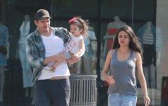 Ashton Kutcher, Mila Kunis su dukra Wyatt