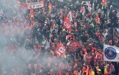 Prancūzijoje prasidėjo dar viena darbuotojų streikų savaitė