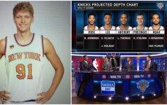 """Dar vienas nesusipratimas: NBA analitikai """"išbraukė"""" M. Kuzminską iš """"Knicks"""" sudėties"""