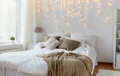 GALERIJA: daugiau nei 50 pavyzdžių, kaip jaukiai dekoruoti miegamojo zoną