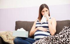 Kaip kovoti su peršalimu nėštumo metu, kad nepakenktumėte kūdikiui