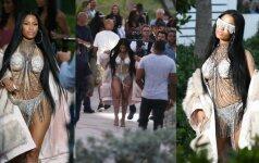Naujame vaizdo klipe besifilmuojanti N. Minaj pasirodė su iš proto varančiais drabužėliais