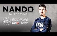 Tylusis Maskvos CSKA žudikas: Nando de Colo