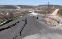 Dėl nuošliaužos uždarytas Simferopolį su Sevastopoliu jungiantis kelias