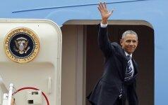 B. Obama atvyko į Japoniją dalyvauti G-7 susitikime ir apsilankyti Hirošimoje