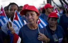 Kuboje – gedulo mitingai F. Castro pagerbti