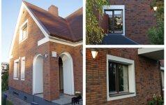 PRIEŠ ir PO: individualaus gyvenamojo namo Antakalnyje fasadų renovacija