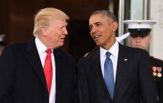 D. Trumpas kaltina B. Obamą akcijų prieš jį rengimu