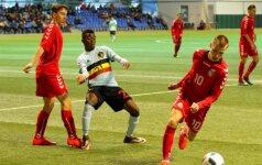 Lietuvos U-17 rinktinė kovoja su Belgija