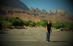 Motociklu per Ameriką: nauja šukuosena ir kalnuose sutiktas didžiaragis
