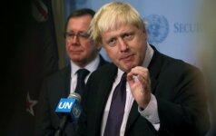 Britų užsienio reikalų sekretorius B. Johnsonas liaupsino savo turkiškos skalbyklės privalumus