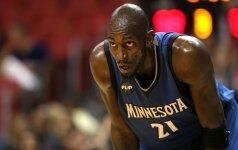 Traukiasi dar viena NBA legenda: K. Garnettas nusprendė baigti karjerą
