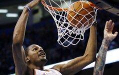 """K.Duranto 51 pelnytas taškas lėmė """"Thunder"""" klubo pergalę po pratęsimo NBA lygoje"""