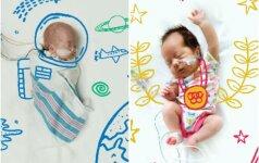 Inkubatoriuje gulintys vaikai pozavo jaudinančioje fotosesijoje (FOTO)