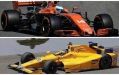 "Fernando Alonso F-1 McLaren ir Indy-500 Andretti"" automobiliai / Foto: AFP/AP/Scanpix"