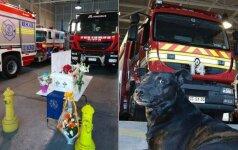 Ugniagesiai neteko keturkojo kolegos: surengė jaudinančią atsisveikinimo ceremoniją