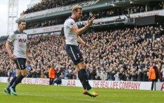 """""""Tottenham Hotspur"""" snaiperis Harry Kane'as džiaugiasi įvarčiu."""