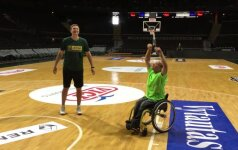 Rinktinis: sirgaliaus diena su Lietuvos krepšinio rinktine