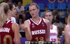 Nematytas kuriozas: rusės pasaulio čempionate įsimetė tritaškį į savo krepšį