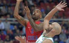 Eurolygos čempionas CSKA vos išnešė sveiką kailį namuose