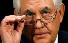 Nedidele balsų persvara patvirtinta R. Tilersono kandidatūra į JAV valstybės sekretoriaus postą