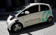 Singapūre išbandomas nuTonomy autonomiškas taksi automobilis